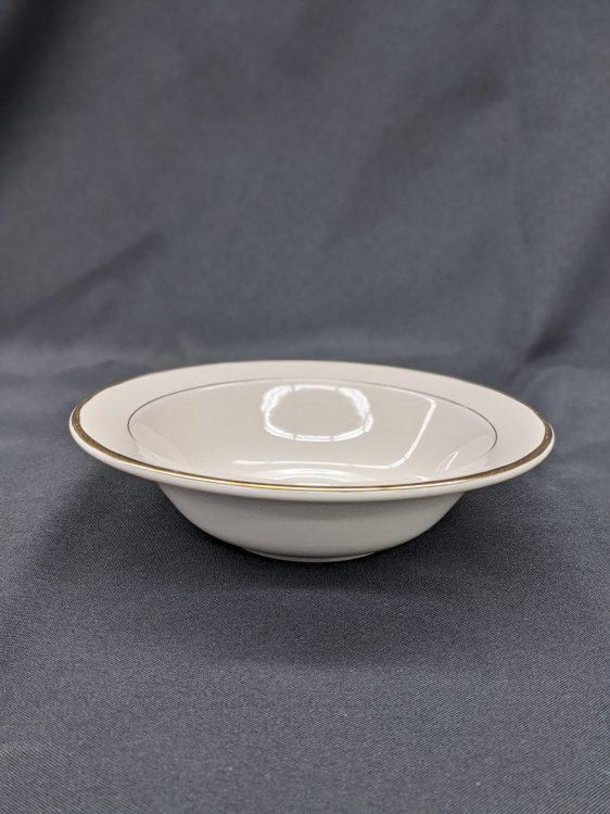 Salad/Soup Bowl Cream W/Gold trim small