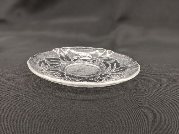 SAUCER GLASS ROSE PATTERN