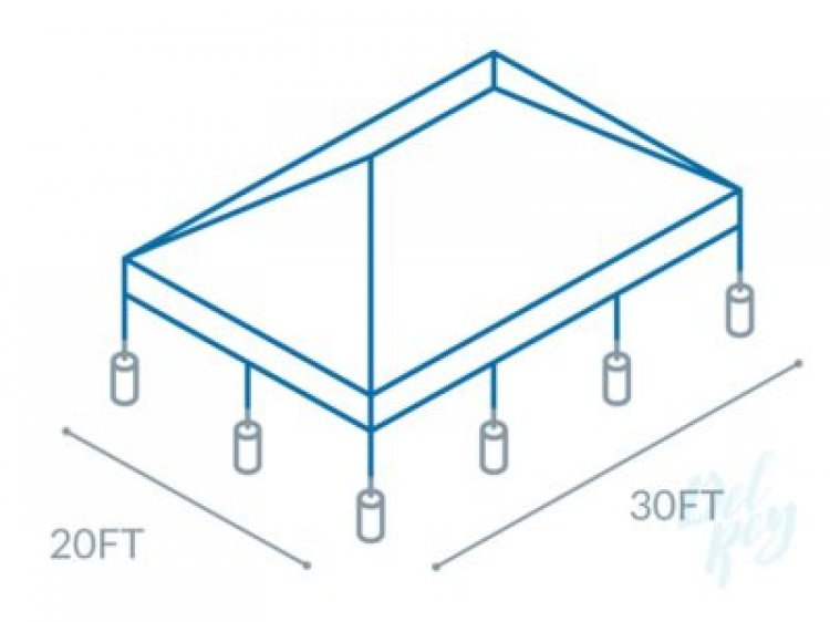 20'x30' White Frame Tent