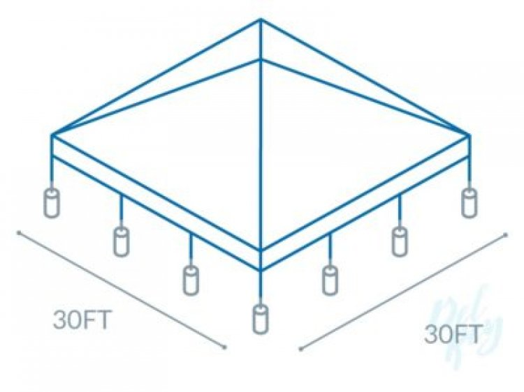 30x30 Frame Tent (140 people)