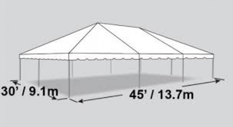 30x45 Frame Tent (176 people)