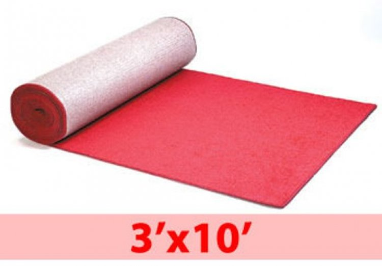 CARPET RED 3'X10' BOUND