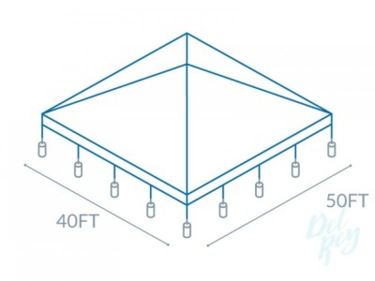 40x40 Frame Tent (208 people)