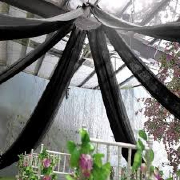 30Ft Black Ceiling Drapes Sheer Curtain Panels