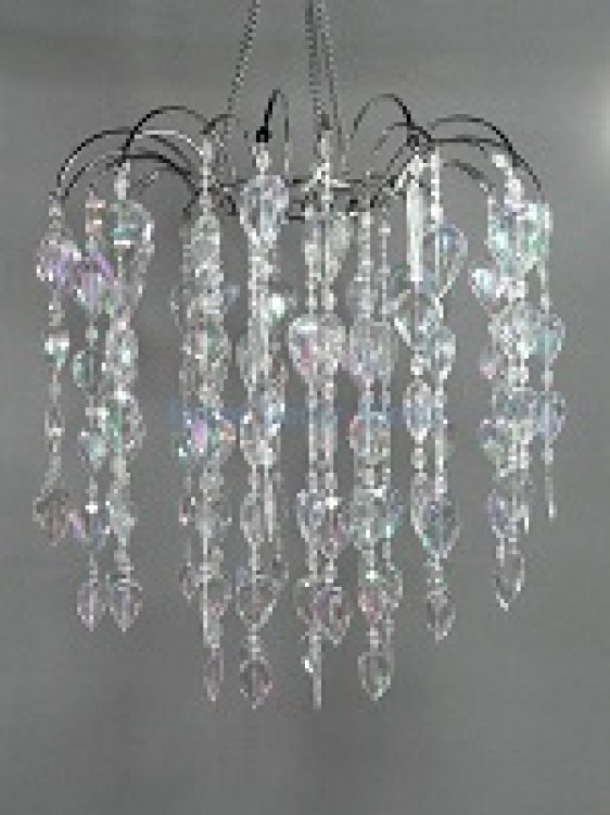 CRYSTAL TEAR DROP CHANDELIER 12X13