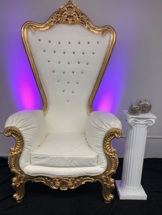 Large Gold Throne Chair
