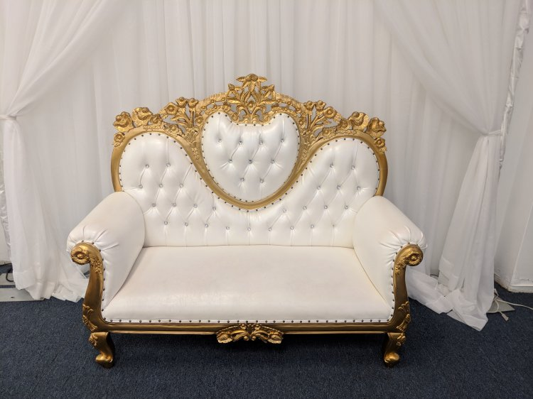 Gold Loveseat Throne