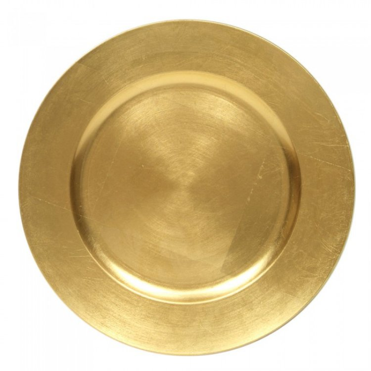 13 Charger Plate Acrylic Gold