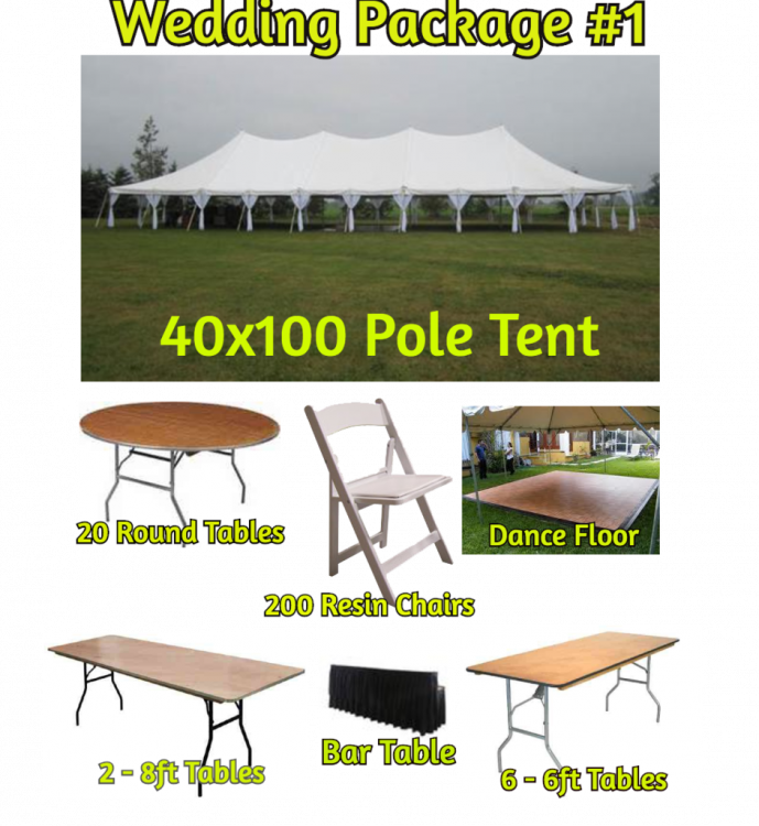 Wedding Package #1 - 200 Guests