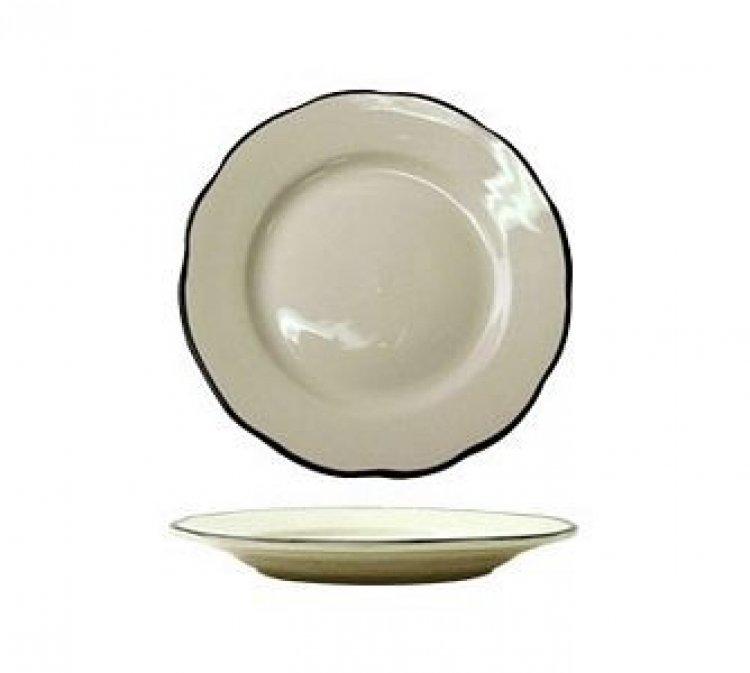 DINNER PLATE BLK/WHT 9.5