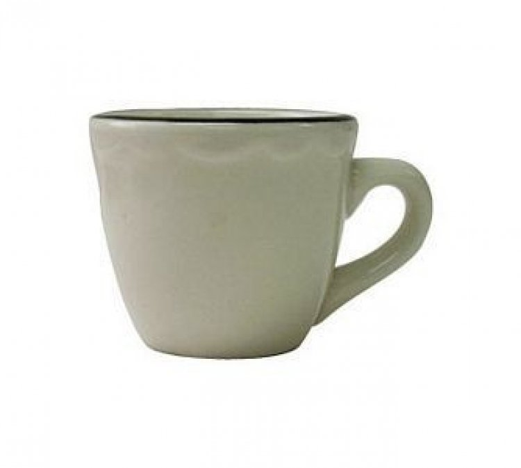 CUP COFFEE BLK/WHT
