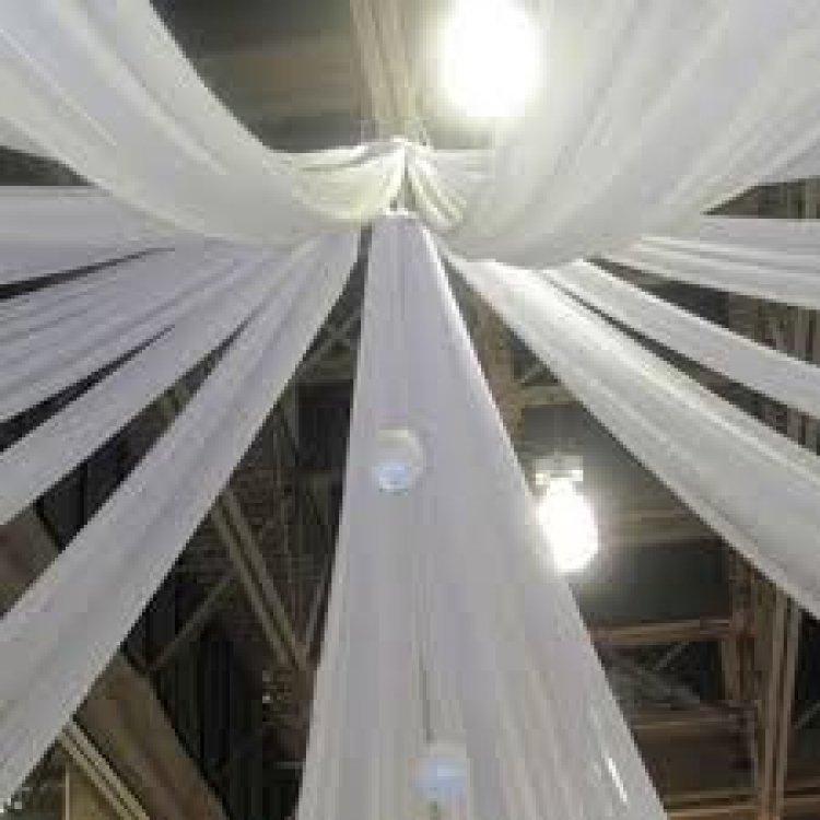 30Ft White Ceiling Drapes Sheer Curtain Panels