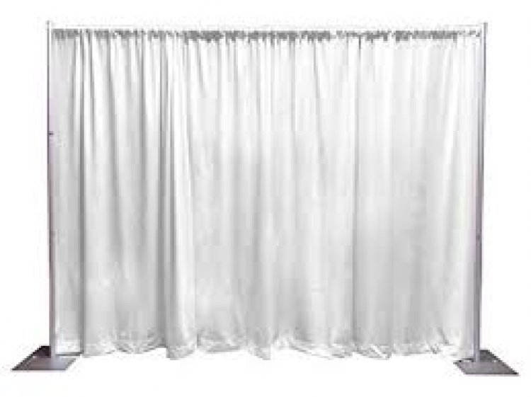 Sheer Drape White 10 ft x 9 ft