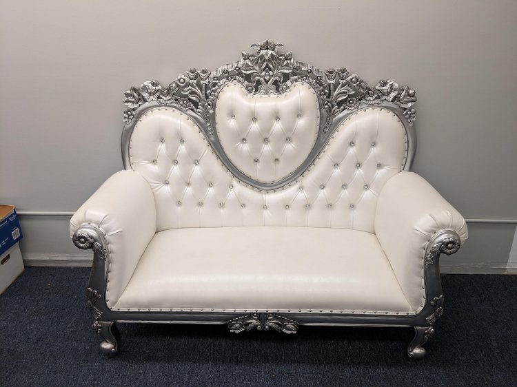 Silver Loveseat Throne