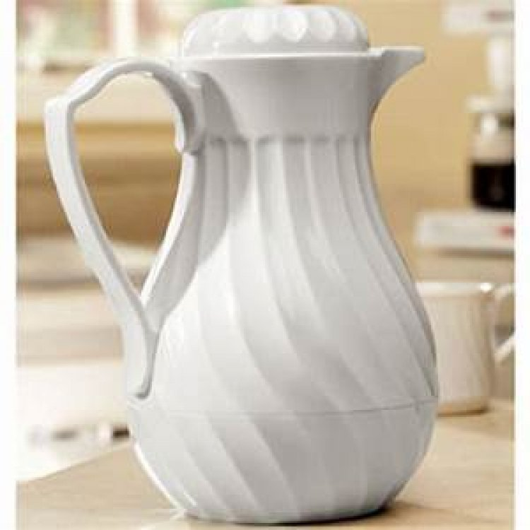 COFFEE CARAFE THERMAL WHT 40OZ