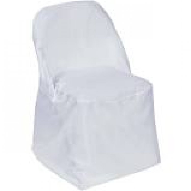 Chair covers white folding