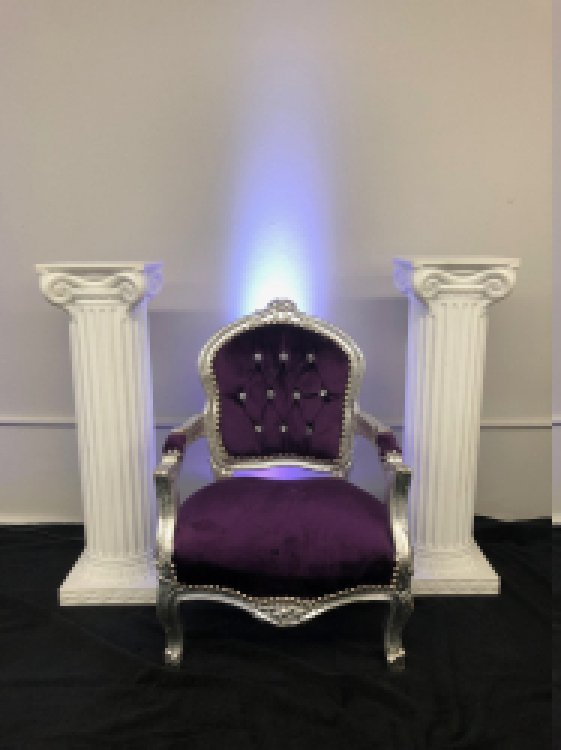Purple Small Throne Chair