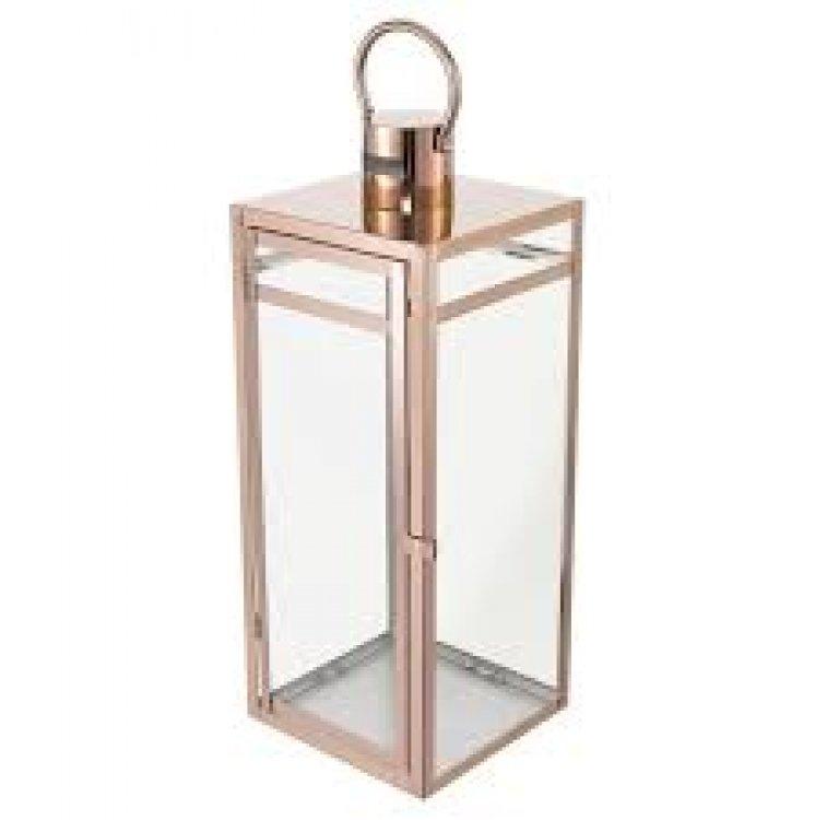 22 Rose Gold   Stainless Steel Metal Lantern Centerpieces