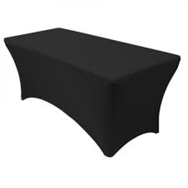 8ft Black Spandex Tablecloths