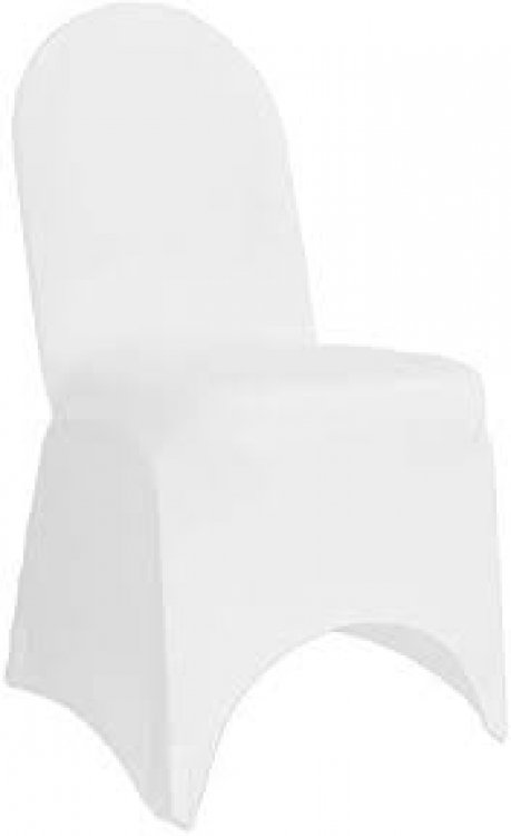 White Stretch Spandex Banquet Chair Cover