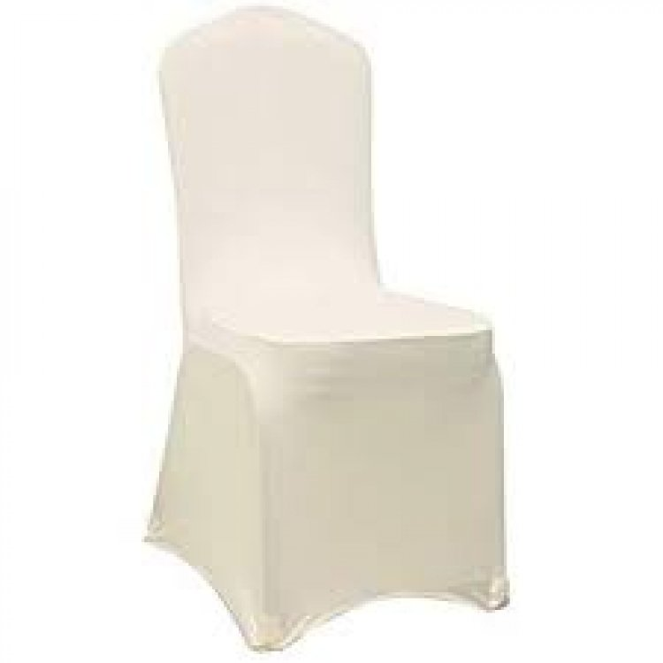 Ivory Stretch Spandex Banquet Chair Cover