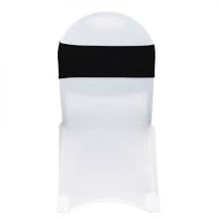 Black Sequin Spandex Chair Sash
