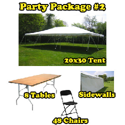 Party Package #2 - 20x30 Pole Tent (48 People)