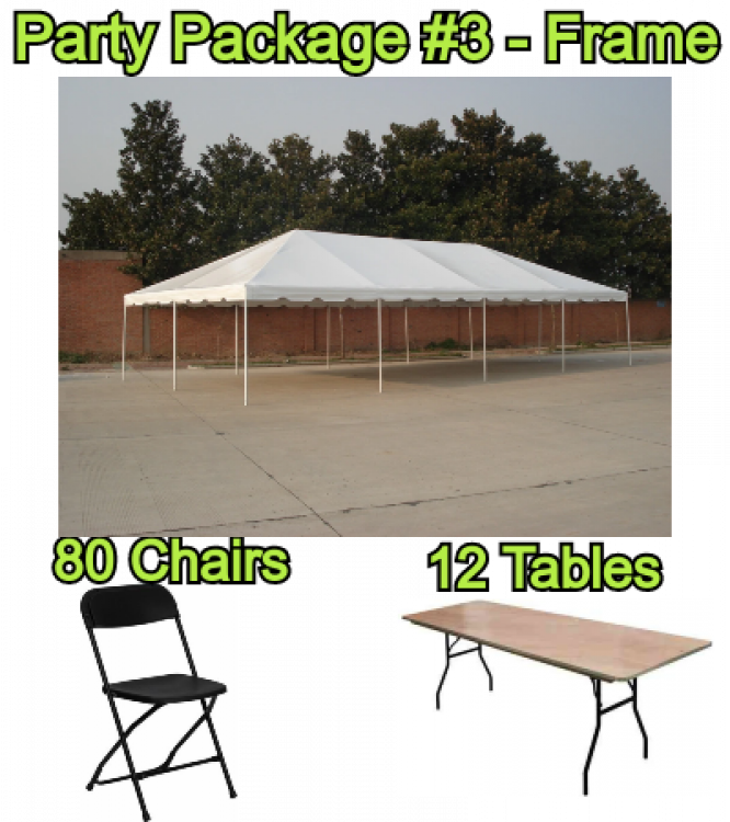 Party Package #3 20x40 FRAME Tent