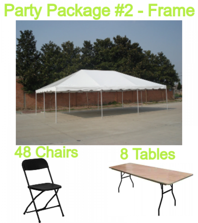 Party Package #2 20x30 FRAME tent