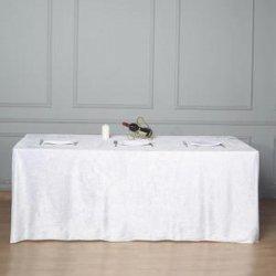 90 x 156 Linen - White